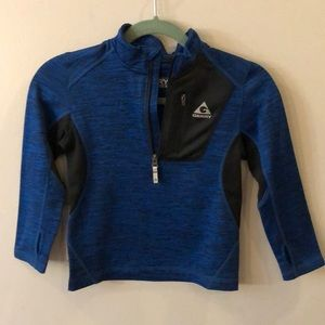 Blue sport half zip pullover 5/6, new without tags